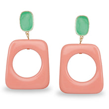 Load image into Gallery viewer, PINK AND BLUE GEOMETRIC CLASSY EARRINGS