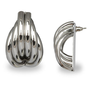 SILVER TWISTED CASUAL EARRINGS