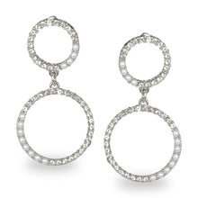 Load image into Gallery viewer, CIRCULAR SILVER EMBELLISHED PARTY EARRINGS