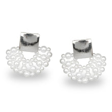 Load image into Gallery viewer, DESIGNER PEARL LACE PARTY EARRINGS LIMITED EDITION