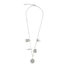Load image into Gallery viewer, SILVER LINKED CHAIN NECKLACE WITH CHARMS