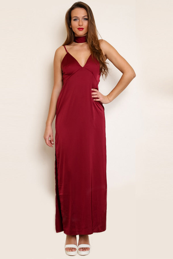 Shop for Montreux Silk Maxi Dress in Rouge in Dresses in  from Wardrobelust online australian fashion boutique - 4