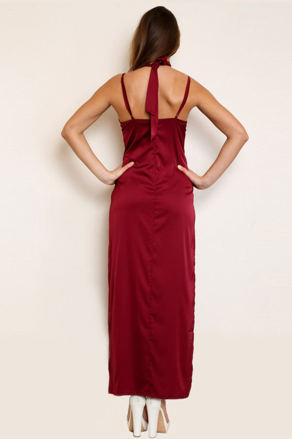 Shop for Montreux Silk Maxi Dress in Rouge in Dresses in  from Wardrobelust online australian fashion boutique - 5