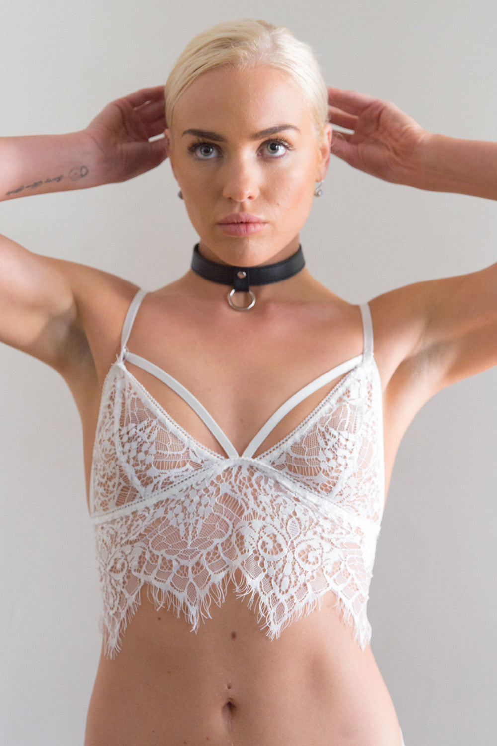 Shop for Black Widow Bralette in White in Tops in  from Wardrobelust online australian fashion boutique - 3
