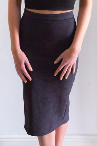 Shop for Alabama Suedette Skirt in Black in Skirts in  from Wardrobelust online australian fashion boutique - 1