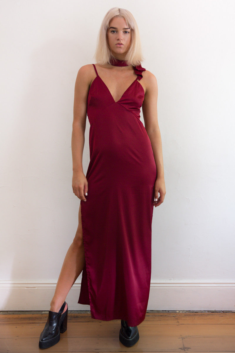Shop for Montreux Silk Maxi Dress in Rouge in Dresses in  from Wardrobelust online australian fashion boutique - 1