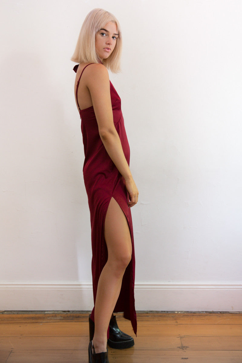 Shop for Montreux Silk Maxi Dress in Rouge in Dresses in  from Wardrobelust online australian fashion boutique - 2