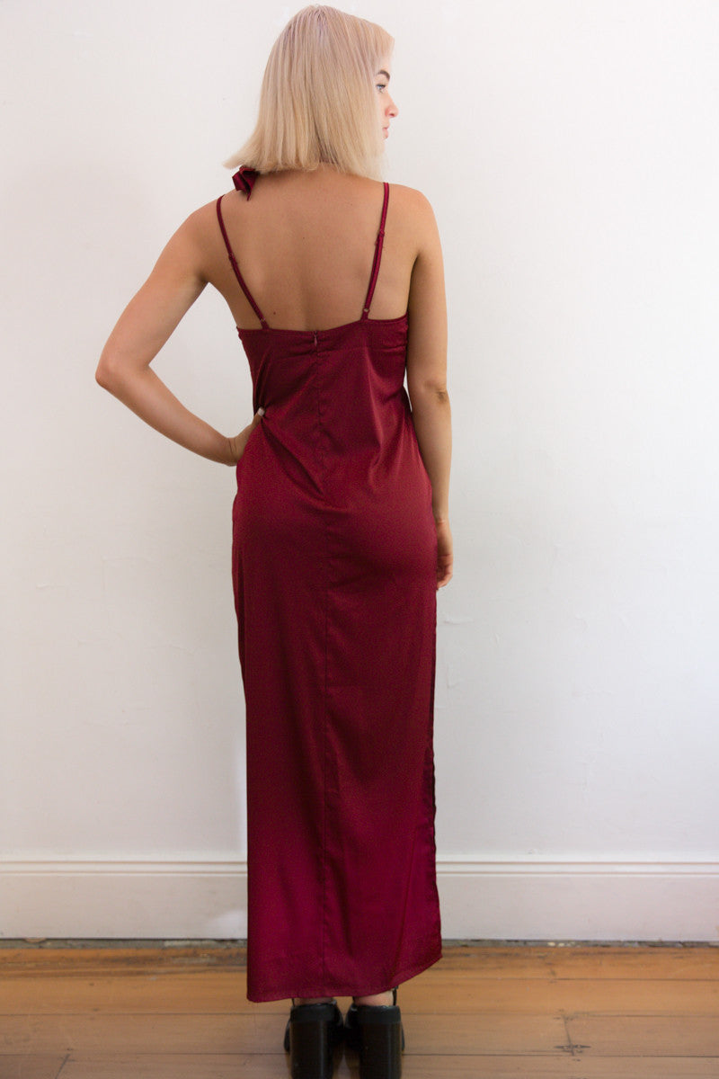 Shop for Montreux Silk Maxi Dress in Rouge in Dresses in  from Wardrobelust online australian fashion boutique - 3