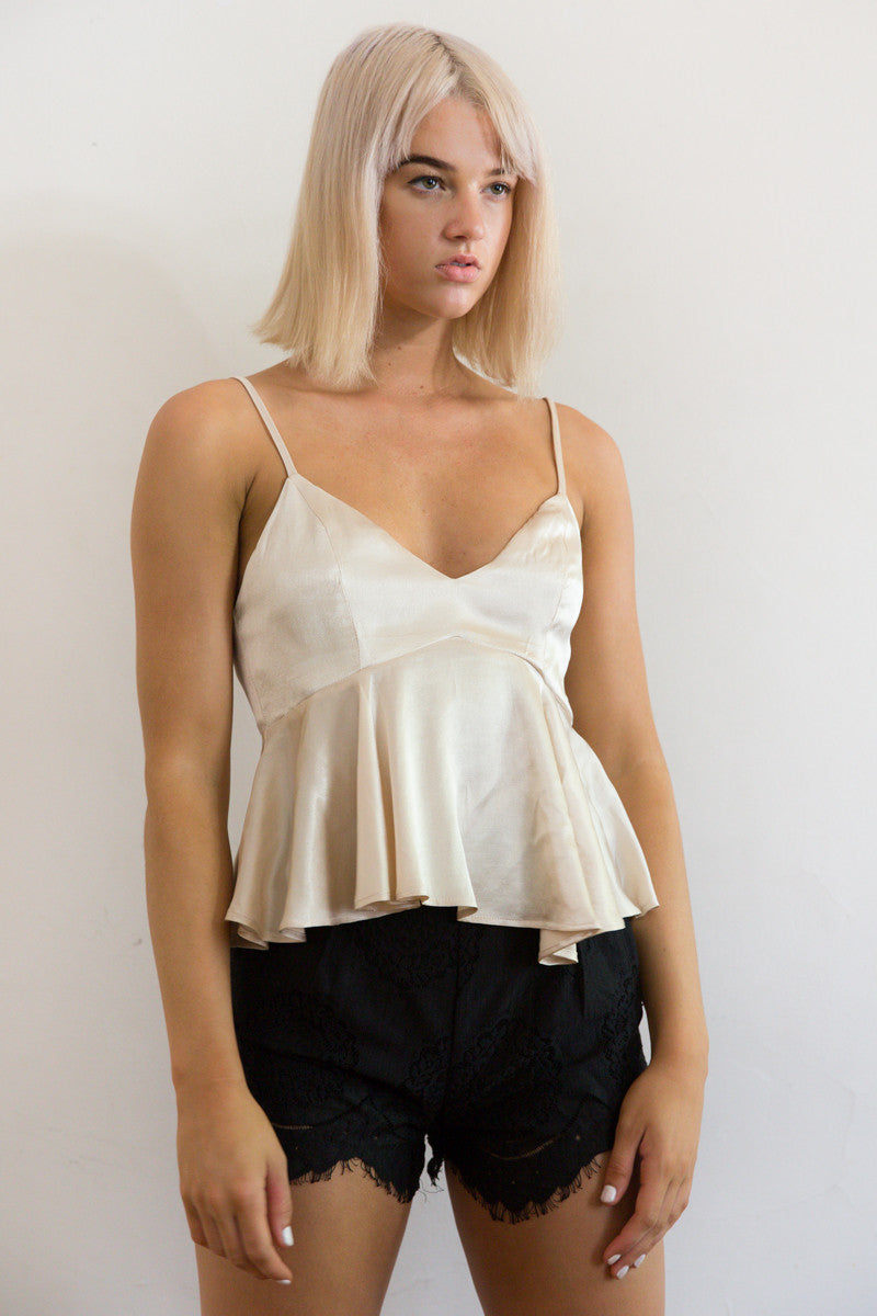 Shop for Silky Babydoll in Gold in Tops in  from Wardrobelust online australian fashion boutique - 2