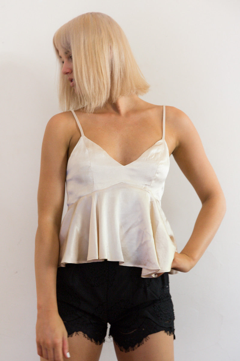 Shop for Silky Babydoll in Gold in Tops in  from Wardrobelust online australian fashion boutique - 3