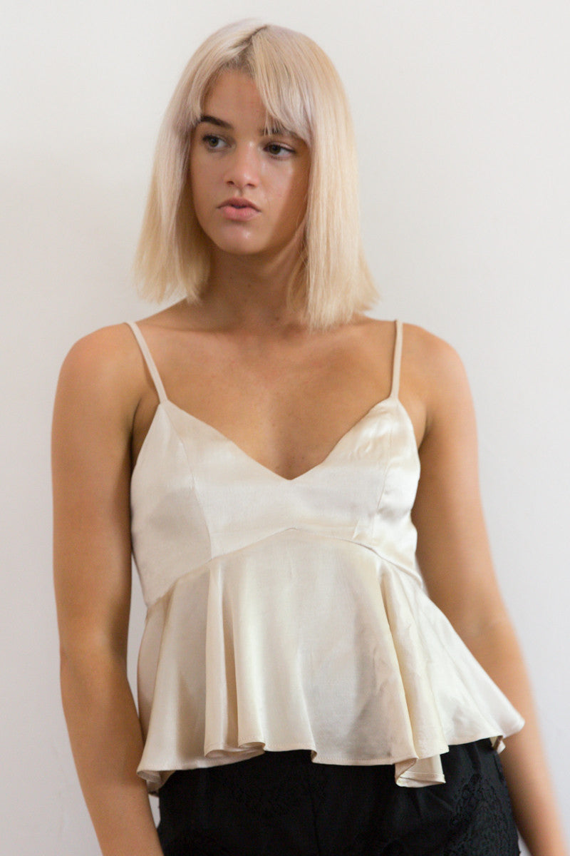 Shop for Silky Babydoll in Gold in Tops in  from Wardrobelust online australian fashion boutique - 1