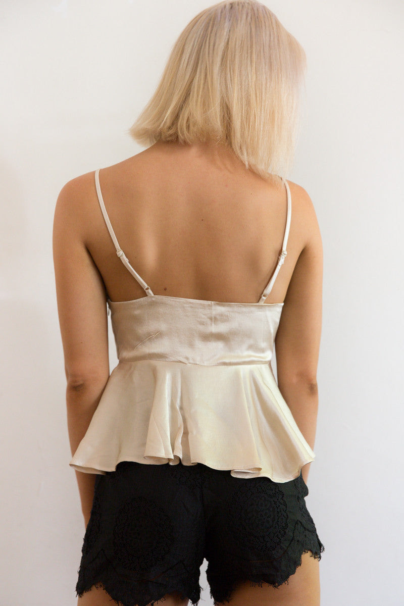 Shop for Silky Babydoll in Gold in Tops in  from Wardrobelust online australian fashion boutique - 5