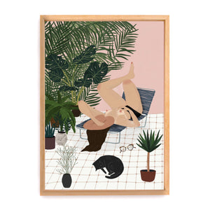 Sun salutations stampa open edition by Chloe Joyce