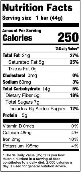 Nuts Nibs Nutrition Facts