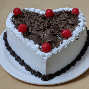 Classic Black Forest Heart Cake  TrueCakes
