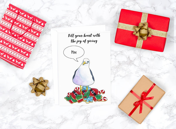 Funny Christmas Card Coastal Christmas Cards Boyfriend Christmas Card Whimsical Christmas Cards Funny Holiday Card Cute Christmas Card