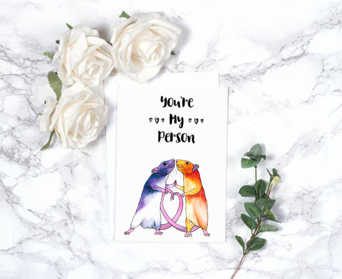 Funny Valentines Day Card Anniversary Card Funny Birthday Card Love Card Gift For Him Girlfriend Gift I Love You Card You're My Person