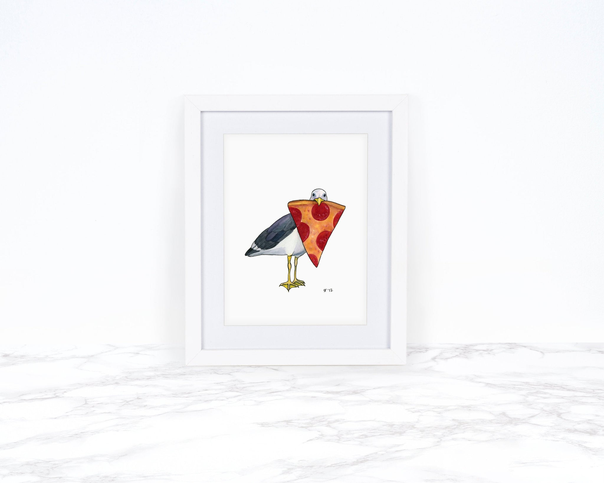 Watercolor Seagull Art Print Beach Decor Kitchen Decor Kitchen Wall Art Coastal Wall Art Food Illustration Gift For Her