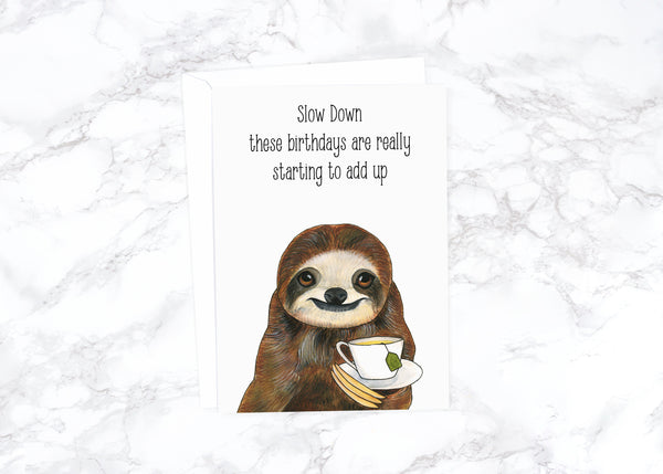 Funny Birthday Card Funny Boyfriend Birthday Animal Birthday Card Dad Cute Birthday Card Friend Watercolor Birthday Card  Rude Birthday Card
