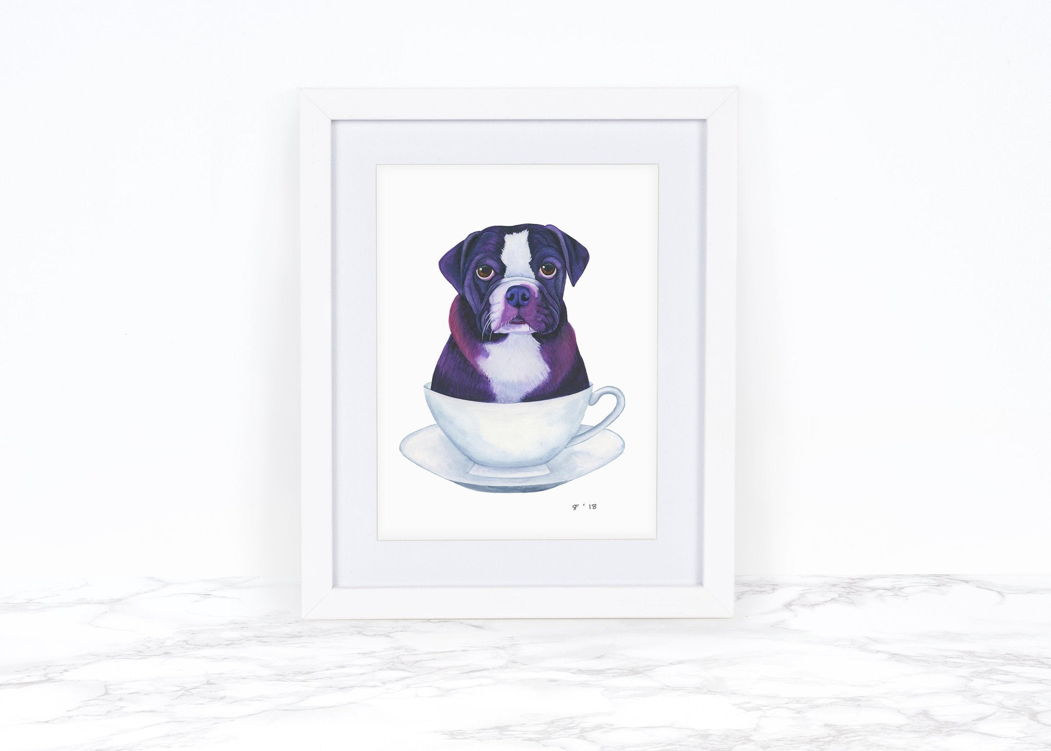 English Bulldog Art Print Dog Lover Gift English Bulldog Gifts Dog Art Print Dog Illustration Funny Animal Art Funny Art Print Dog Print