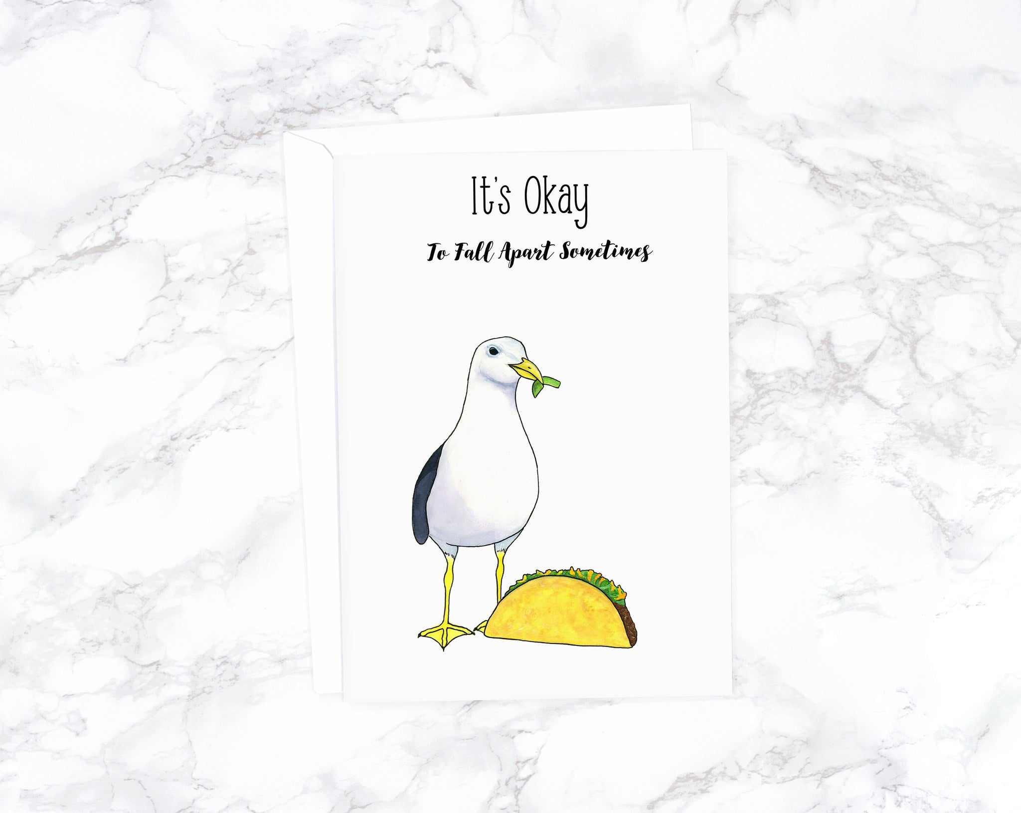Funny Taco Card, Funny Sympathy Card, Sorry Card, Thinking of You Card, I'm Sorry Card, Funny Get Well Card, Funny Food Card, Loss Card