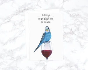 Wine Birthday Card Wine Best Friend Card Funny Birthday Card Boyfriend Birthday Animal Birthday Card Old Cute Birthday Card Funny