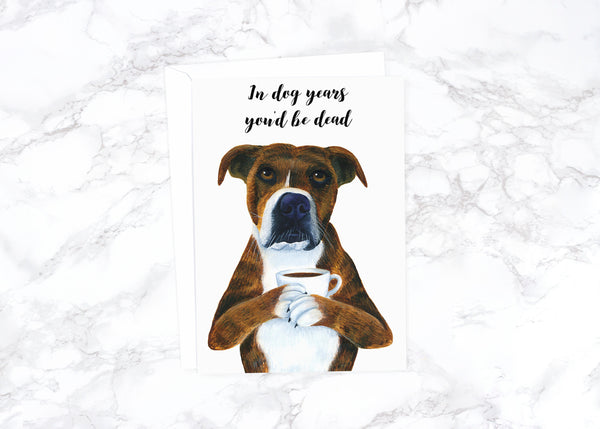 Funny Birthday Card Boyfriend Birthday Card Animal Birthday Card Rude Birthday Card Dog Birthday Card Best Friend Card  Husband Birthday
