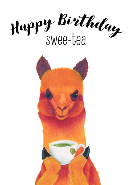 Llama Birthday Card, Tea Birthday Card Boyfriend, Funny Birthday Card Funny, Best Friend Birthday Card Friend, Girlfriend Birthday Card