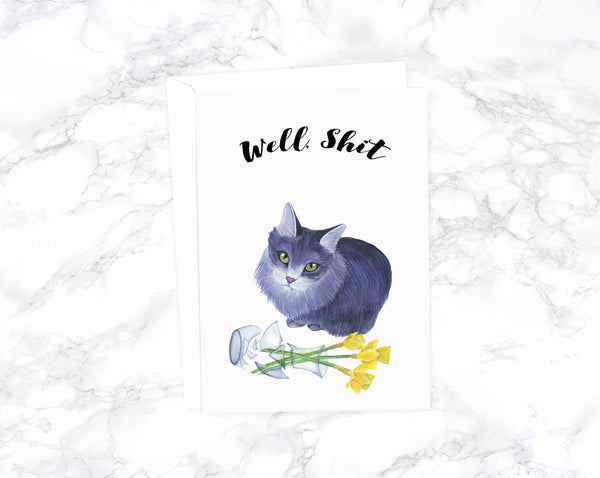 Cat Lover Gift Funny Sympathy Card Sorry Card Thinking of You Card Sympathy Gift Best Friend Card Best Friend Gift Greeting Card Get Well