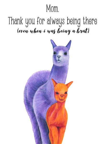 Llama Mother's Day Card, Funny Mothers Day Card Funny, Happy Mother's Day, Cute Mothers Day Card, Card For Mom, First Mothers Day Card