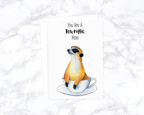 Meerkat Mother's Day Card, Funny Mothers Day Card Funny, Happy Mother's Day, Cute Mothers Day Card, Card For Mom, First Mothers Day Card