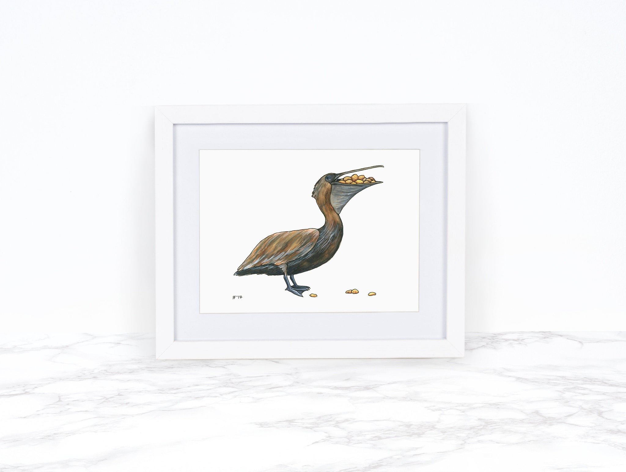 Pelican Art Print Kitchen Wall Decor, Coastal Wall Art, Whimsical Animal Art Print, Funny Animal Art Whimsical Art Print, Kitchen Wall Art
