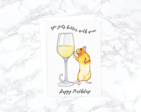 White Wine Birthday Card, Funny Birthday Card Funny, Boyfriend Birthday Card, Friend Birthday Card Friend, Mom Birthday Card