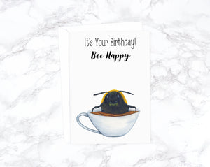 Honey Bee Birthday Card, Tea Birthday Card Boyfriend, Funny Birthday Card Funny, Best Friend Birthday Card Friend, Girlfriend Birthday Card