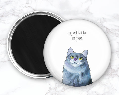 Funny Cat Magent, Cat Fridge Magnet, Refrigerator Magnets, Cat Kitchen Magnet, Funny Kitchen Magnet, Cat Lover Gift, Christmas Gift For Her