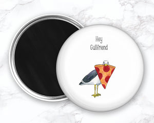 Funny Seagull Magnet, Funny Food Magnet, Pepperoni Pizza Magnet, Coastal Magnet, Refrigerator Magnets, Funny Kitchen Magnets
