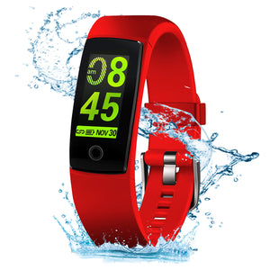V10 Waterproof Red Fitness Tracker