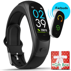 V08Pro 2 in 1 Fitness Tracker & Earbud