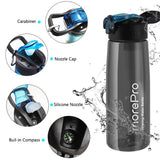 MorePro Premium Water Bottle with Built in Filter Black