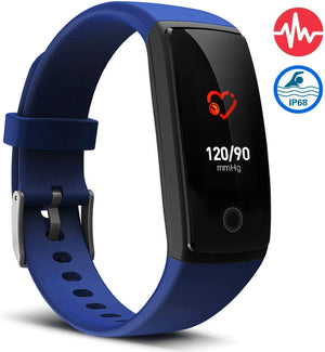 V10 Waterproof Blue Fitness Tracker