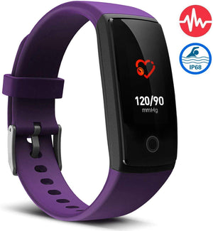 V10 Waterproof Purple Fitness Tracker