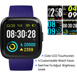 V12C Blue Waterproof SmartWatch
