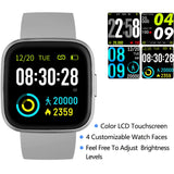V12C Gray Waterproof SmartWatch