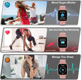 CS201 Pink Waterproof Smartwatch