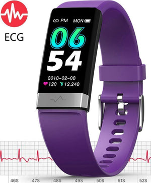 V19 ECG Purple Fitness Tracker