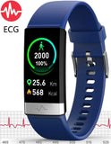 V19 ECG Blue Fitness Tracker
