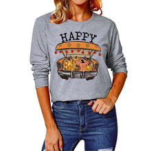 Load image into Gallery viewer,  Halloween print long Sleeve T-shirt