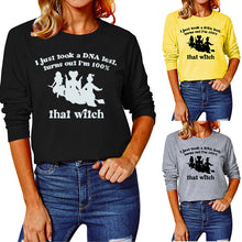 Load image into Gallery viewer, Halloween print long Sleeve T-shirt-I just took a dna test