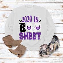 Load image into Gallery viewer, Halloween print long Sleeve T-shirt- 2020 IS Boo Sheet