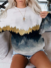 Load image into Gallery viewer, Mountain printed crew neck casual sweatshirt